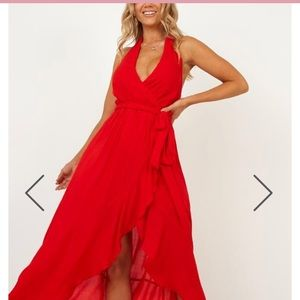 Red Wrap Prom Dress (Beyond the Horizon)